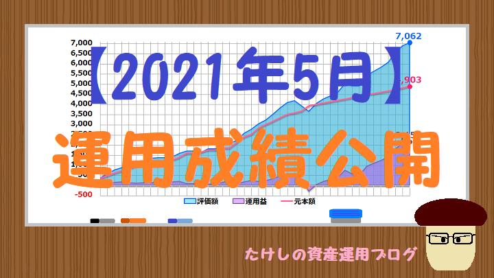 【2021年5月】運用成績公開